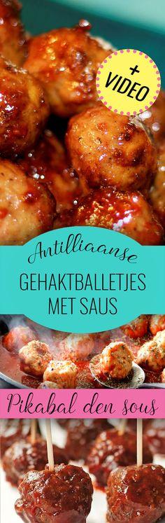 Echte Antilliaanse PIKABALLETJES (pittige gehaktballetjes!) maak je natuurlijk zelf met ons recept. Inclusief video!