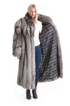 Fur Fashion, Fox Fur, Mantel, Fur Coat, Jackets, Silver, Furs, Grey, Black
