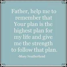 Amen. God's way is the best way