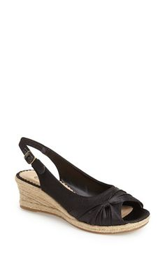 Free shipping and returns on Bella Vita 'Sangria Too' Slingback Espadrille Sandal (Women) at Nordstrom.com. Ruched detailing highlights the elegant peep toe of a slingback sandal that balances everyday elegance with the earthy appeal of a jute-wrapped espadrille wedge.