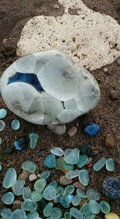 Irish Sea glass.
