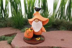 OOAK Fall Gnome Sculpture