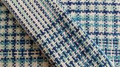 Rigid heddle weaving. Sugar and cream