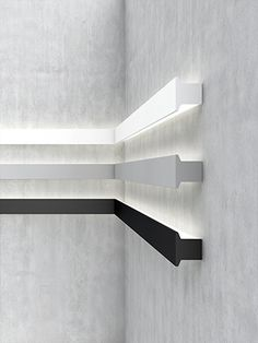 Meter by meter system - designer ceiling lights from belux ✓ extensive . - Meter by Meter System – Designer ceiling lights from belux ✓ Extensive information on the produ - Indirect Lighting, Linear Lighting, Strip Lighting, Modern Lighting Design, Interior Lighting, Architectural Lighting Design, Ceiling Light Design, Ceiling Lights, Cove Lighting Ceiling