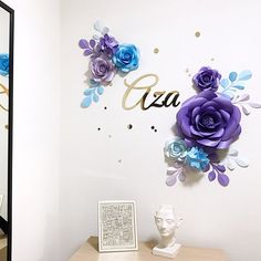 Paper Flowers Guest Book Alternative by MioGallery on Etsy