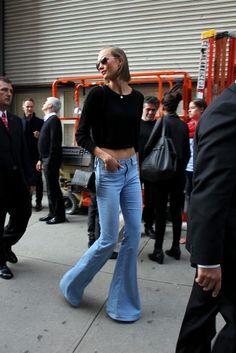 New York Fashion Week street style. [Photo by Robert Mitra]