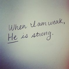 No matter what weakness you think you may have, no matter what inadequacies or setbacks you've encountered, God wants to give you His divine strength. He wants to make up the difference and put you further ahead than you ever thought possible.