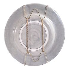 Better Houseware Platter and Tray Hanger: Safely display heirlooms with this plate hanger. Adjustable brass-plated wire hangers securely hold plates, platters, bowls and trays. Plate Hangers, Plate Racks, Plate Holder, Wire Hangers, Dish Racks, Hooks, Wooden Plate Rack, Wooden Plates, Fish Patterns