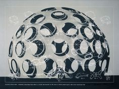 "Richard Buckminster Fuller, GEODESIC STRUCTURES-MONO HEX, from the series ""Inventions:Twelve around one"", 1981, Deutsche Bank Collection"