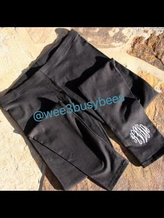 Monogrammed children's and adult leggings @wee3busybees