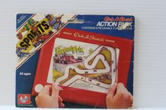 ETCH a SKETCH Action Pack SPORTS theme reusable fun screens, toy for child,vintage toy for child, vintage Etch a Sketch, vintage toy