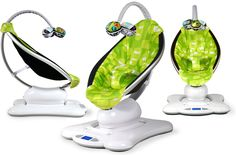 4moms | momaroo..... This is soooo Neat , it has all different settings it can tree swing, ocean movement,  go up and down, car ride, nature sounds, iPod hook up, position sitting or laying down, sooo cool