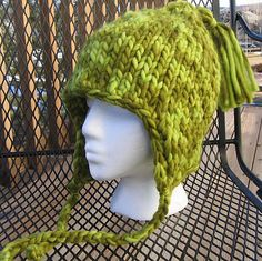 Ravelry: #13 Tasseled Earflap Hat pattern by Kathy North