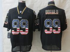 St.Louis Rams 99 Donald USA Flag Fashion Black 2014 New Nike Elite Jerseys