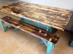 Picnic table idea katie- we could paint or stain the picnic tables