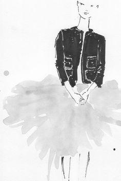 La Petite Veste Noire / The Little Black Jacket - by Chanel. Kera Till Illustration