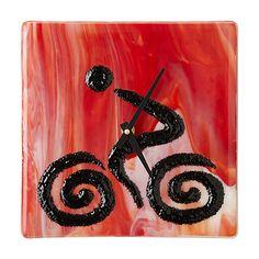 BIKER GLASS CLOCK   glass clock, gift for biker   UncommonGoods
