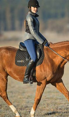 Sit Tight n Warm Windpro® Kneepatch Breech | A cold weather riding pant with the technical advantages of wind and water resistance; strategically designed so riders can stretch and breathe while staying dry and protected.