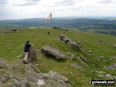 Walk Picture/View: Waiting for a paraglider to take-off on Sourton Tors in Dartmoor, Devon, England by Tamzin Hackett (5)