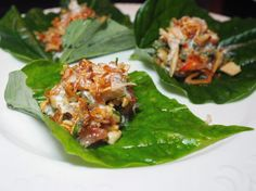 That Miang of Crab Pomelo & Peanut betel leaf wrap at @modelcitizenyyc #memoirsofagweilo #popup was delish!  One of my favourite bites of the night! #thaifood . . . . #thefeedfeed #f52grams #food52 #foodpics #foodstagram #foodgram #instagood #instafood #betelleaf #latergram