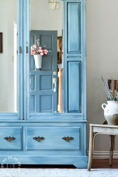 Color Blending with Fusion Mineral Paint { Painted Armoire Makeover } | Lost & Found