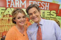 Daphne Oz with her proud papa, Dr. Oz! #TheChew