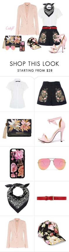"""""""Black, White, Pink and Floral"""" by cody-k ❤ liked on Polyvore featuring Vilshenko, Lizzie Fortunato, Chase & Chloe, Quay, Gucci and STELLA McCARTNEY"""