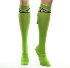 Knee High Donatello Socks #TMNT