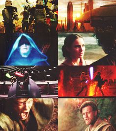 Episode III...this compilation of pictures really shows the Sith taking over and the tragedy felt by the protagonists (Obi-Wan and Padme)