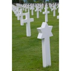 France Normandy Wwii cemetery Canvas Art - Cindy Miller Hopkins DanitaDelimont (24 x 36)