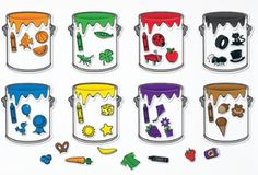 The Splash of Color Magnetic Sorting Set from Learning Resources helps students build color recognition, vocabulary and early math skills. The set includes eight paint bucket frames, 40 magnets and an activity guide for easy lesson planning. Learning Games, Learning Resources, Kids Learning, Early Learning, Teacher Resources, Preschool Colors, Preschool Music, Teaching Colors, Preschool Classroom