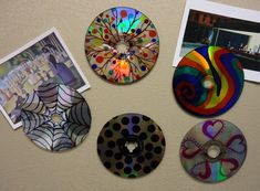 Old CDs + Sharpies + magnets!