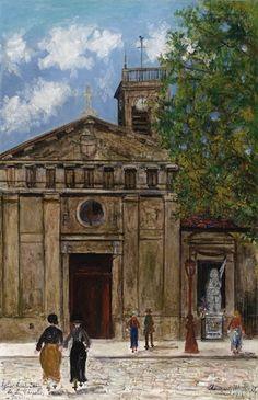 Maurice Utrillo, Eglise Saint-Denis de la Chapelle, Paris