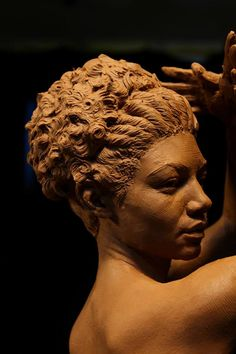 Brian Booth Craig sculpture..capturing hair texture