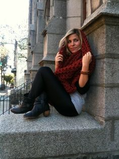 Crochet Infinity Scarf Large Circle Scarf in by janellehaskin, $110.00