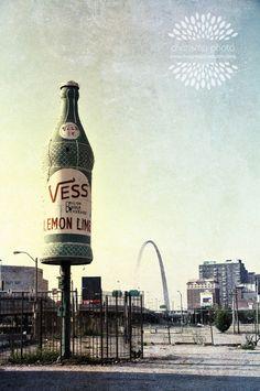 Famous Vess Bottle and St. Louis Gateway Arch by charismaphoto, $25.00