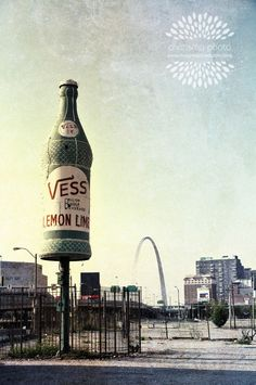 Famous Vess Bottle and St. Louis Gateway Arch by charismaphoto, $25.00