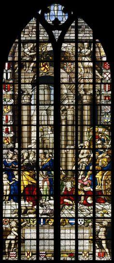 De beroemde ramen van de St. Janskerk in Gouda, famous windows of St. Jan church in Gouda (St. John's Church)