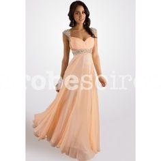 Adélie- robe de soirée bretelle col v - sur demande 5920