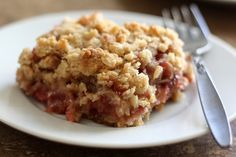 Rhubarb Brown Sugar Crunch recipe by Barefeet In The Kitchen