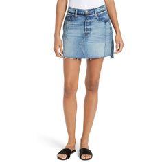 Women's Frame Nouveau Le Mini Denim Skirt ($345) ❤ liked on Polyvore featuring skirts, mini skirts, bristol mix, white denim mini skirt, white denim skirt, mini skirt, white skirt and white mini skirt