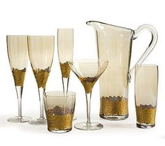 Gold Paillette Collection - Champagne Flute $96