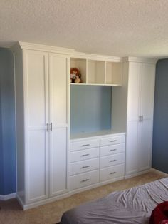 Closet and TV Cabinet for the Bedroom. Cute!