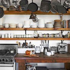 kitchen - open shelves! Love!