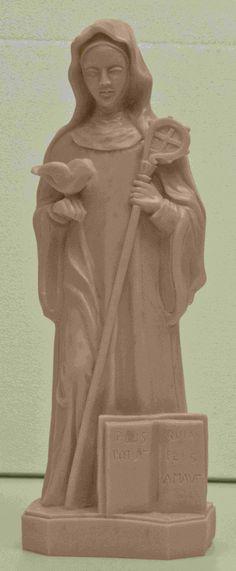 Statua di Santa Scolastica, sorella di San Benedetto! Prodotta in Italia.