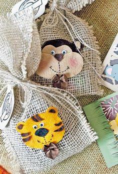Molde de animalitos de fieltro para decorar dulceros