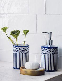 Bathroom Inspiration TOTAL INDIGO | EDITORIAL AW17 ZARA HOME