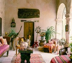 Moroccan rooms http://www.e-mosaik.com/
