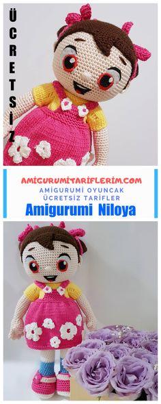Amigurumi Niloya Bebek Yapımı - Amigurumi Tariflerim Baby Knitting Patterns, Amigurumi Doll, Crochet Baby, Free Pattern, Dolls, Recipe, Baby Dolls, Doll, Sewing Patterns Free