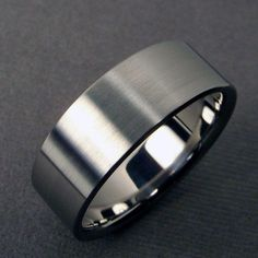 Mens Wedding Band Titanium polished and satin by hersteller, $85.00